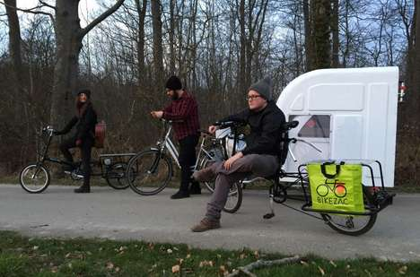 Bicycle-Towed Campers - The Wide Path Camper Can Hold Two Persons