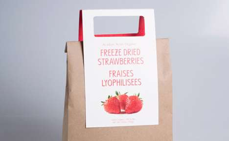 Eco Strawberry Packaging - This Frozen Fruit Bag Idea is Resourceful, Adaptable and Earth-Conscious