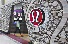 Nationally Inspired Storefronts - Lululemon Edmonton Location Celebrates Canadian Values in Symbols