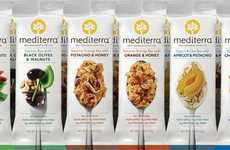 Savory Snack Bars - The Mediterra Nutrition Bars Feature a Holistic Packaging Design