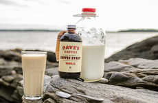 Organic Coffee Syrups - This Product from Dave's Coffee Features Four Fresh Flavors