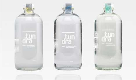 Transparent Water Branding - Tundra Packaging Shows the Product's Purity with a See-Through Image