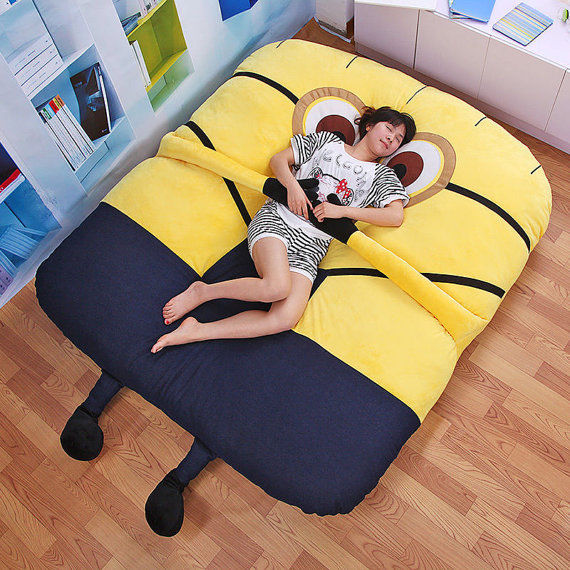 Embracing Cartoon Beds