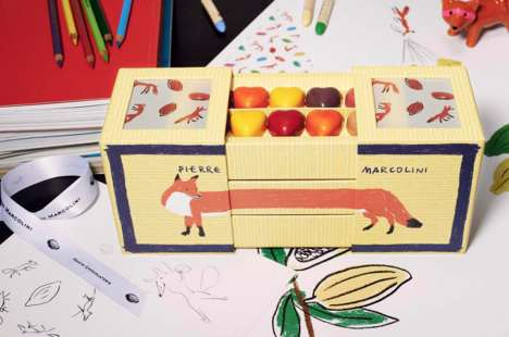 Street Fashion Macarons - The Maison Pierre Marcolini x Kitsuné Features an Elongated Fox-Like Box
