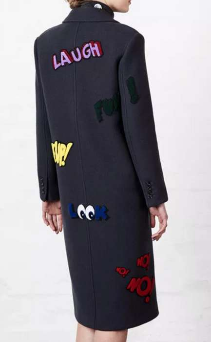 Cartoon Tailored Coats - This Mira Mikati Coat Features Emoji-Laden Symbolism with Minimalist Design