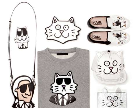 Cat Cartoon Couture - The Tiffany Cooper for Karl Lagerfeld Line Mixes Luxury Fashion with Cartoons