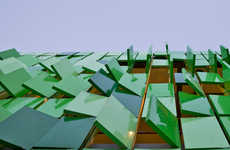 Emerald Paneled Facades - This Restaurant by JYA-Architects Boasts an Exterior of Green Tiles