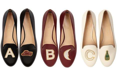 Alphabetized Emoji Footwear - The Charlotte Olympia Alphabet Flats Mix Emojis and Style