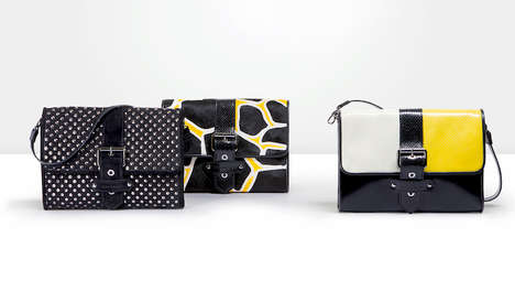 Electric Supermodel Handbags - The Kate Moss x Longchamp Collaboration Mimics the Model's Style
