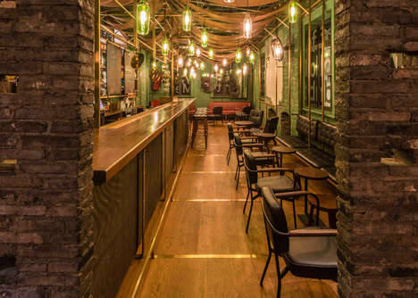 Antiquated Alleyway Bars - This Shanghai Punch Bar Resembles an Old World Establishment