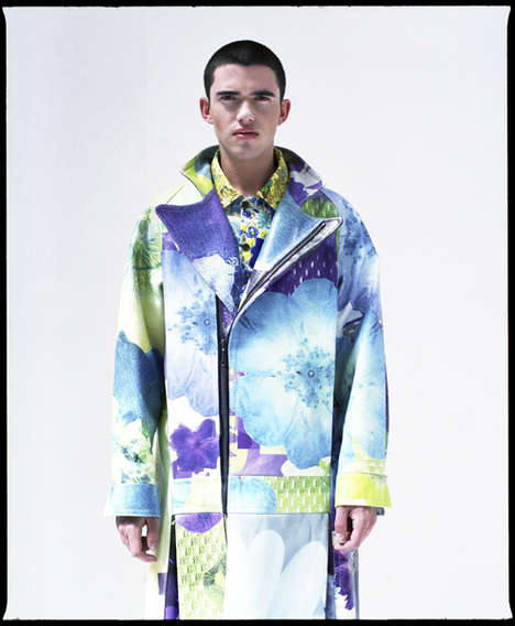 Masculine Floral Jackets - This Rachel James Coat Boasts a Striking and Artistic Print