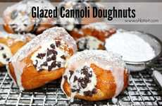 Cannoli Donut Hybrids - This Yummy Cannoli Dessert from Oh, Bite It! is a Mashup with a Glazed Donut