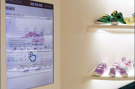 Interactive Footwear Displays - Munich Sports' Interactive Displays Use RFID Technology