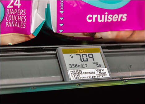 Paperless Retail Tags - Panasonics's Powershelf Electronic Shelf Labels Give Shoppers Special Deals