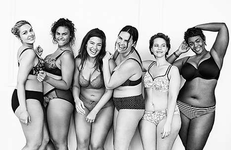 Sultry Plus-Size Campaigns - The #ImNoAngel Lingerie Ads Assert That Full Figures are Seductive