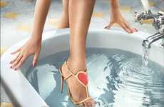 Hygienic Shoe Marketing - Christian Louboutin's Latest Lookbook is Titled Water in Love