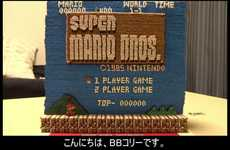 Toothpick Gamer Tributes - This Super Mario Bros. Start Screen Was Created with 14,000 Toothpicks