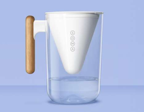 Eco Water Pitchers - The Soma Watcher Pitcher Purifies with a Coconut Shell Carbon Filter
