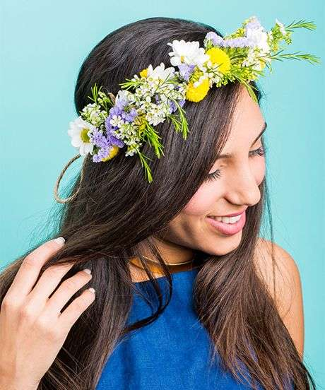 Floral Crown Crafts - This Fresh DIY Flower Crown Makes the Prettiest Outdoor Festival Accessory