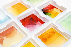 Gummy Bear Lightboxes - The Mayice Presentation Box is Made from Colorful Melted Candies