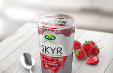 Arctic Yogurt Cups - Arla's Iceberg-Inspired Yogurt Containers Hint at What's Beyond the Surface