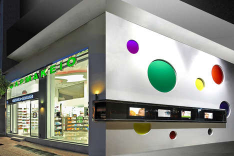 Pop Art Pharmacies - This Greek Pharmacy Design is Playful and Vibrant
