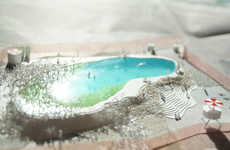 Self-Cleaning Pools - Artists Create a Natural Albeit Temporary Swimming Area in London, England