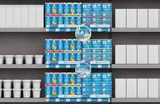 Greek Yogurt Retail Displays - These Bata SA Retail Displays Minimize the Use of Floor Space