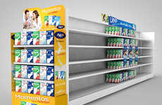 Conceptual Dairy Displays - This Colorful Milk Display Case was Designed with the Shopper in Mind