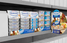 Cream Cheese Retail Displays - These Point of Purchase Materials are to be Strategically Placed