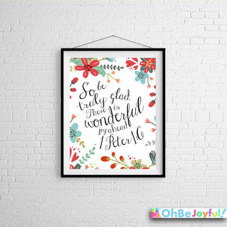 Artistic Scripture Prints - Etsy's Oh Be Joyful Shop Boasts Inspirational Bible Verse Posters