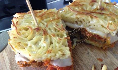 Spaghetti Meatball Sandwiches