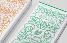 Mazed Confection Branding - This Illustrated Chocolate Packaging Differentiates Flavors by Color