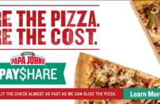 Pizza Payment Sharing - Papa John's PayShare Feature Allows Users to Split the Bill