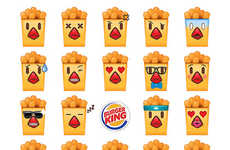 Fast Food Emoji Apps - The Burger King Emoji Keyboard Celebrates the Return of Chicken Fries