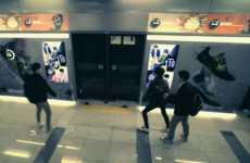Subway Fitness Stations - Reebok Challenges Korean Commuters to Keep Fit While Waiting for a Train