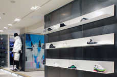 Logo-Mimicking Displays - The Adidas Harvey Nichols Pop-Up Boasts a Locker Room Set-up
