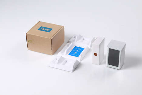 Minimalist Gadget Boxes - Lyve's Digital Packaging Solution Simplifies Shipping and Receiving