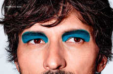 Androgynous Makeup Editorials - Fantastic Man's Latest Issue Experiments with Vibrant Male Cosmetics