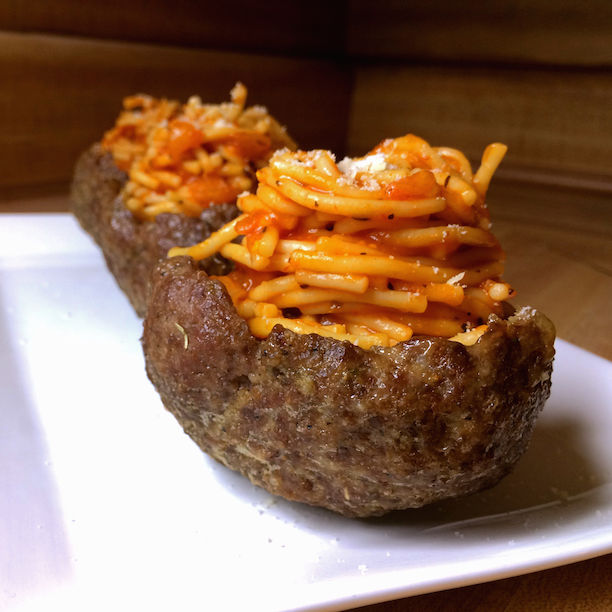 Spaghetti Meat Bowls