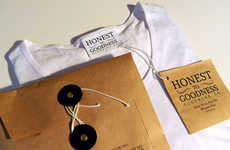 Artisanal T-Shirt Branding - This Honest To Goodness Clothing Packaging is Rustic and Eco-Friendly