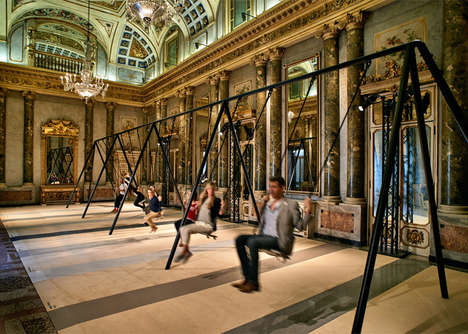 Neoclassical Stone Swing Sets