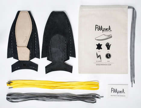Flat-Packed Footwear Pouches