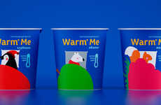 Child-Focused Thermal Packaging - Malygina Marina Designs Interactive Branding for Kid's Yogurt