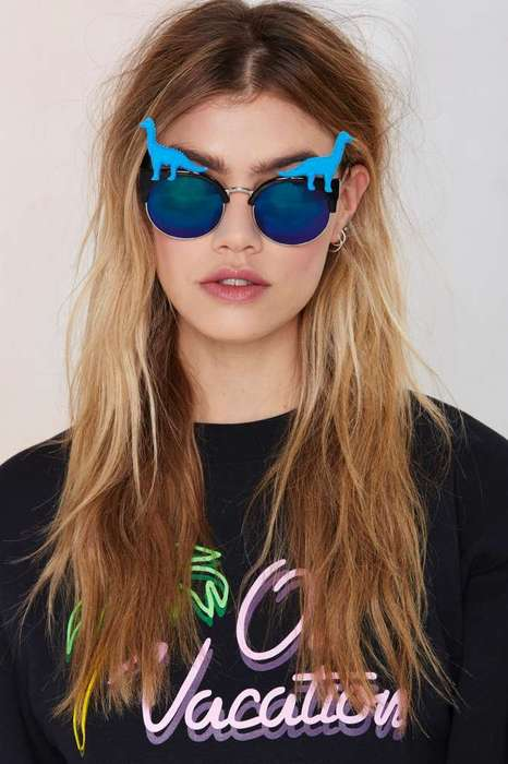 Daring Dinosaur Shades - These Polarized Sunglasses Feature Reptilian Design Details