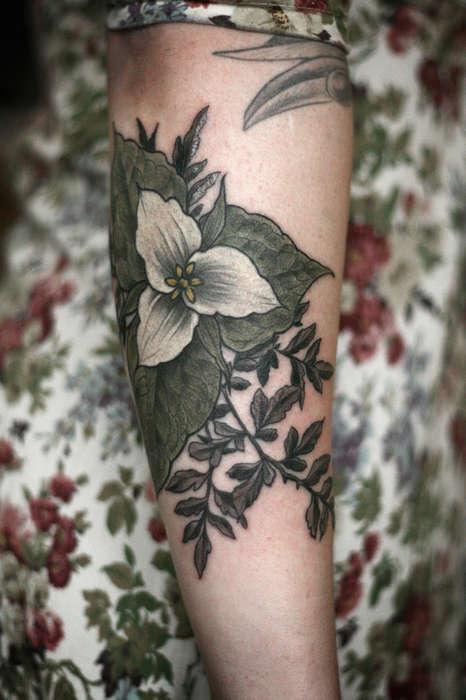 Exquisite Floral Tattoos