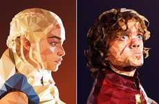 Geometric Fantasy Portraits - This Game of Thrones Art Series Boasts Polygonal Imagery