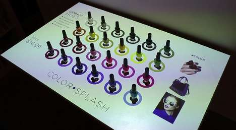 Musical Nail Polish Displays - This Digital Retail Display Concept is Designed by PERCH Interactive