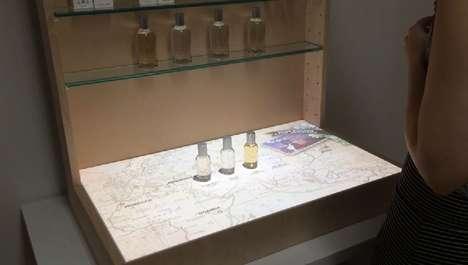 Topographic Fragrance Displays