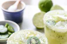 Kiwi Margarita Cocktails - This Alcoholic Beverage is a Great Companion to Cinco de Mayo Festivities